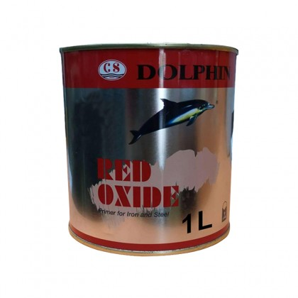1L Dolphin Anti Rust Black Oxide / Red Oxide Undercoat Paint